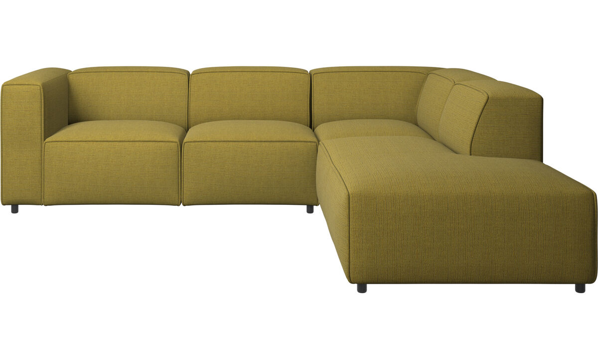 Chaise lounge sofas - Carmo motion corner sofa - Yellow - Fabric