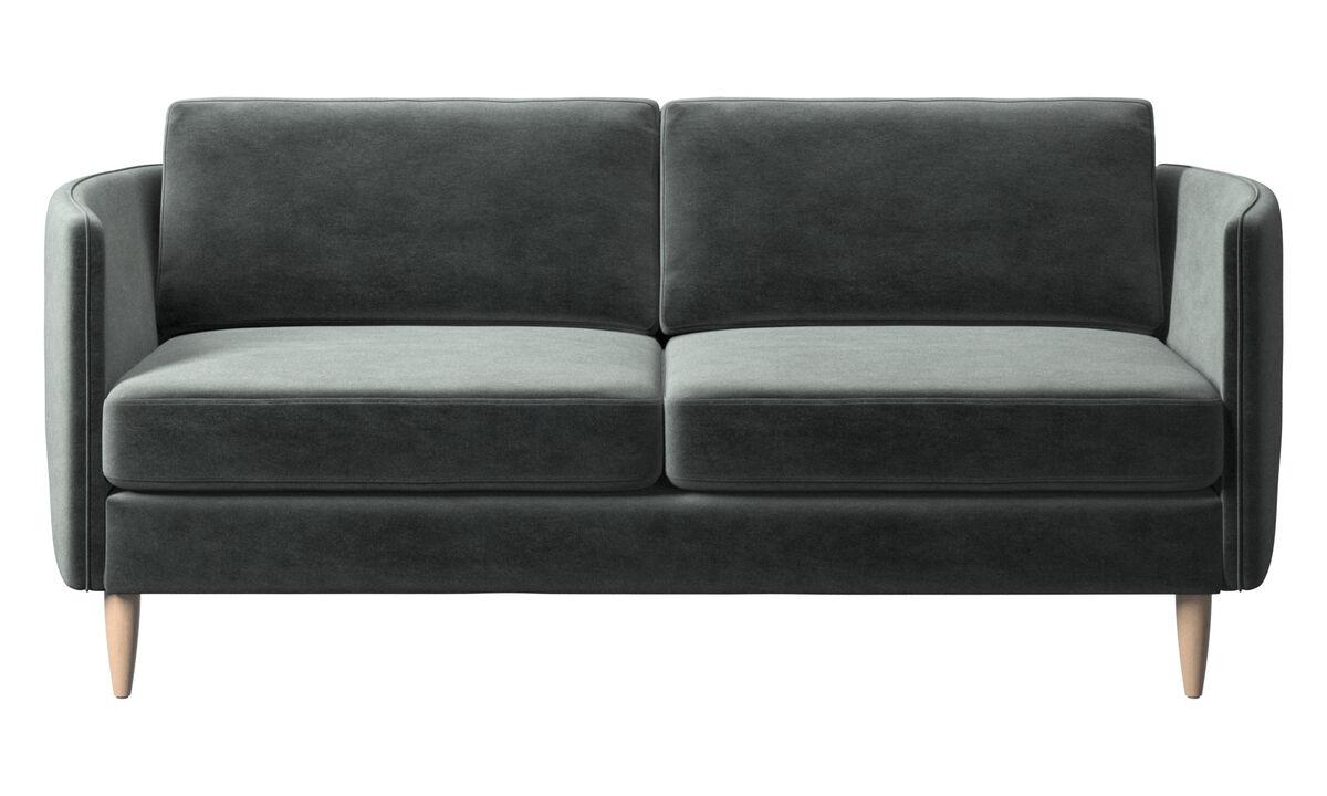 Sofás de 2 plazas - sofá Osaka, asiento regular - En verde - Tela
