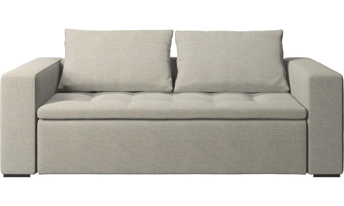Sofás de 2 plazas y media - sofá Mezzo - En beige - Tela