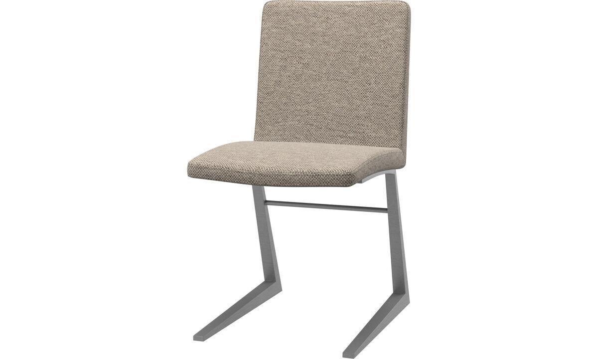 Cadeiras de jantar - Cadeira Mariposa Deluxe - Bege - Tecido