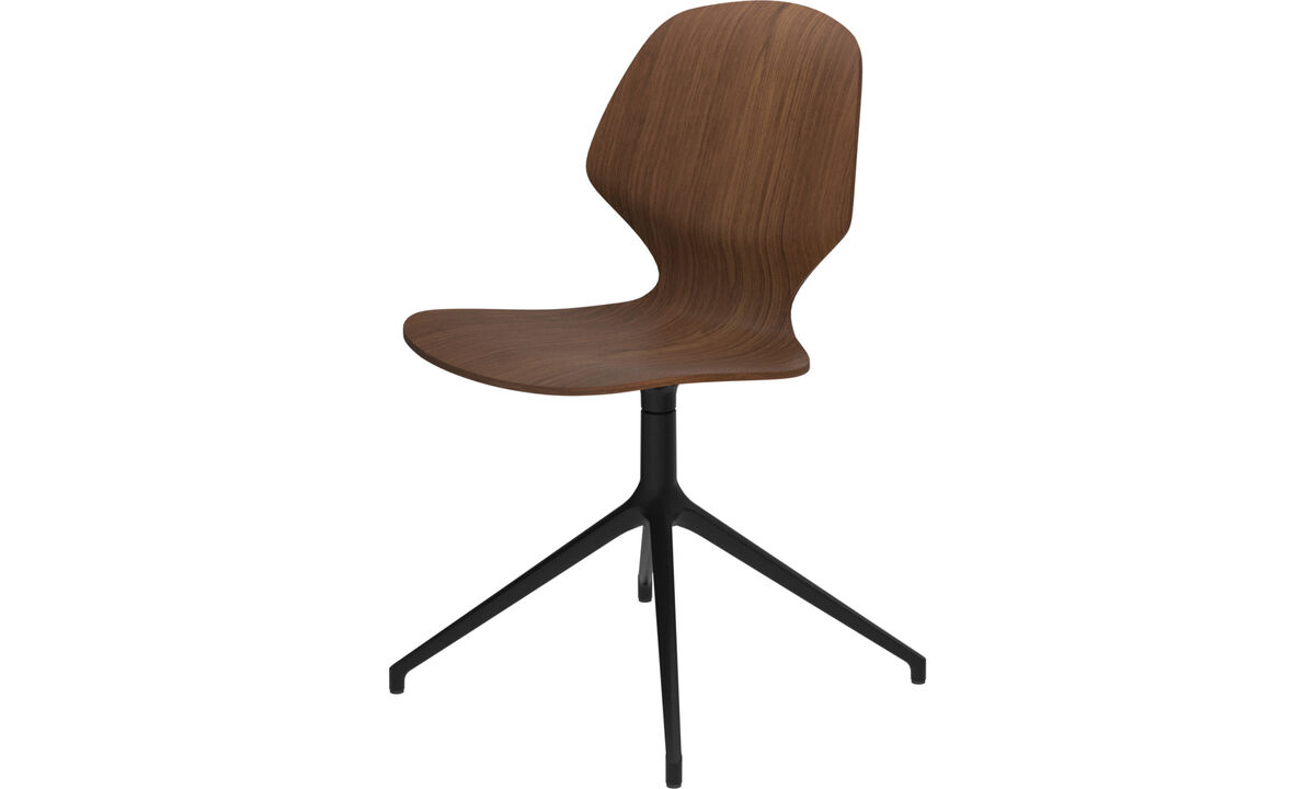 Dining chairs - Florence chair with swivel function - Brown - Walnut