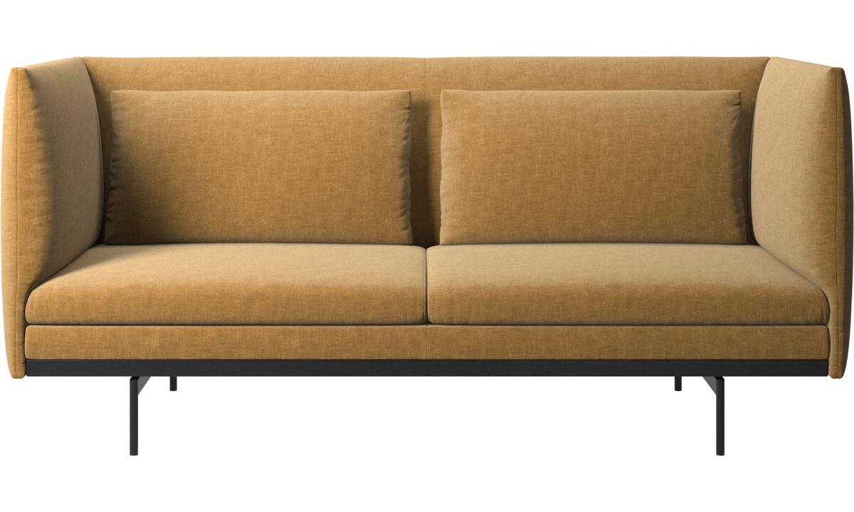 Двухместные диваны - Диван Nantes с подушками - Бежевого цвета - Tкань