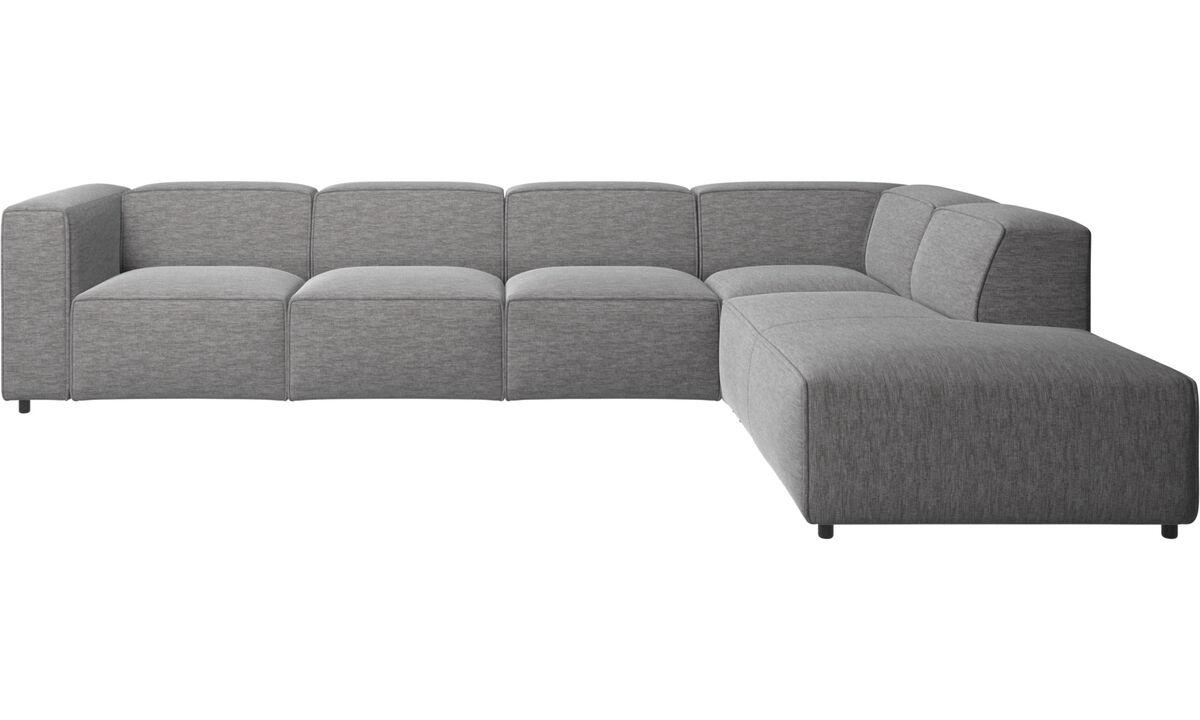 Sofaer med hvilemodul - Carmo hjørnesofa med loungemodul - Grå - Stof