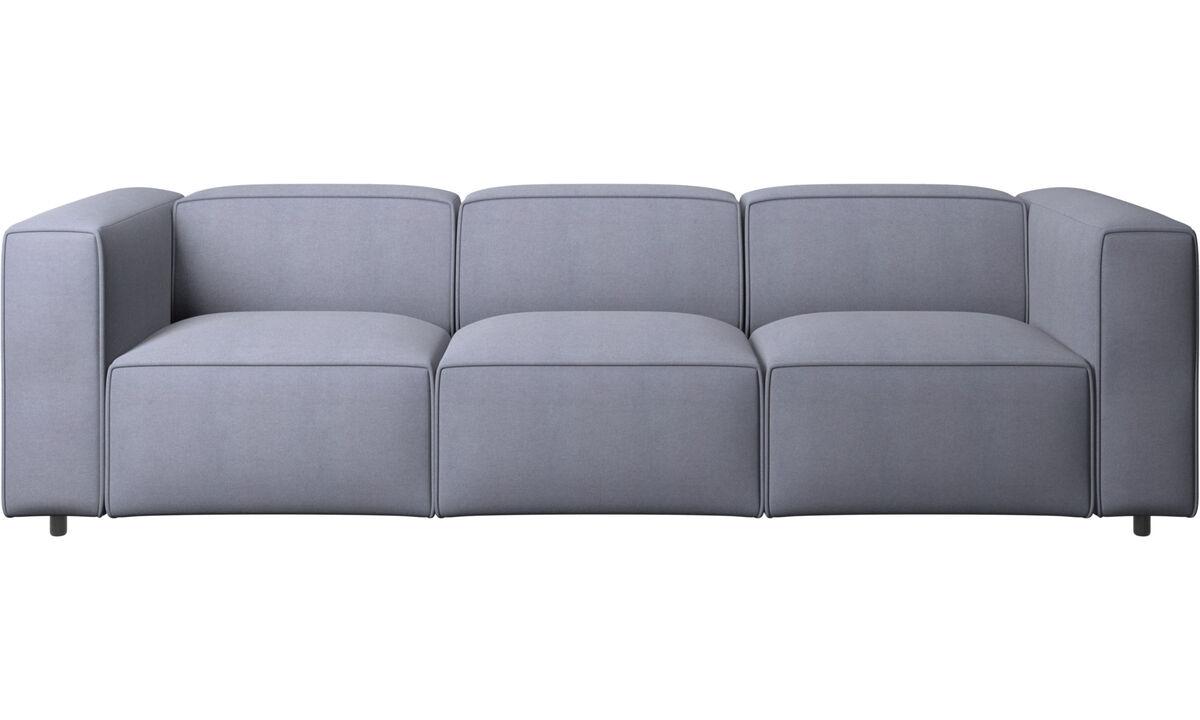 Sofás de 3 plazas - sofá Carmo - En azul - Tela