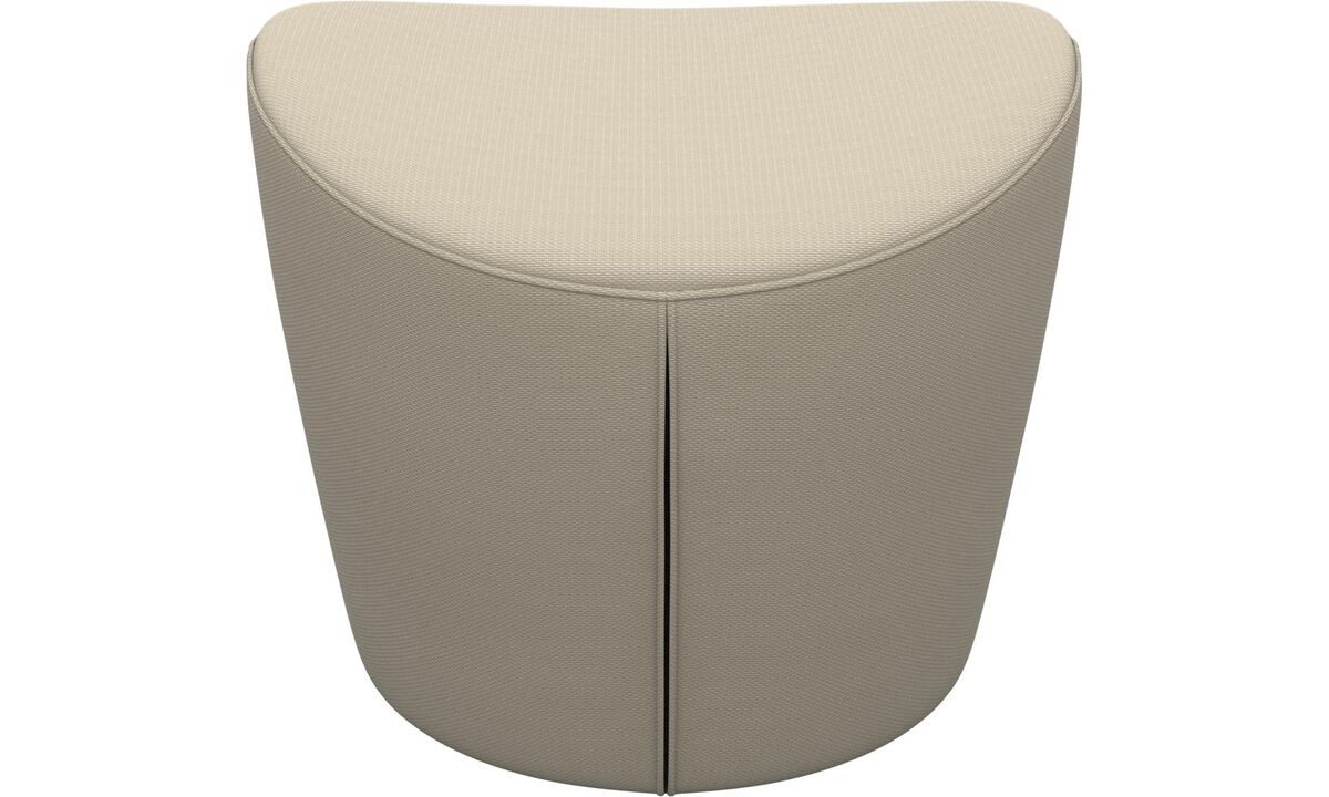 Ottomans - Rico footstool - White - Fabric