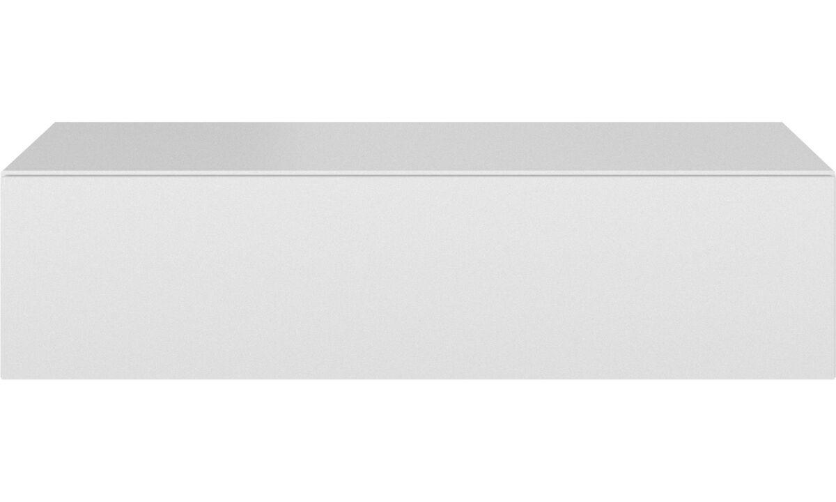 Системы для хранения - Комод Lugano с поднимающейся дверцей и возможностью настенного монтажа - Белый - Лак