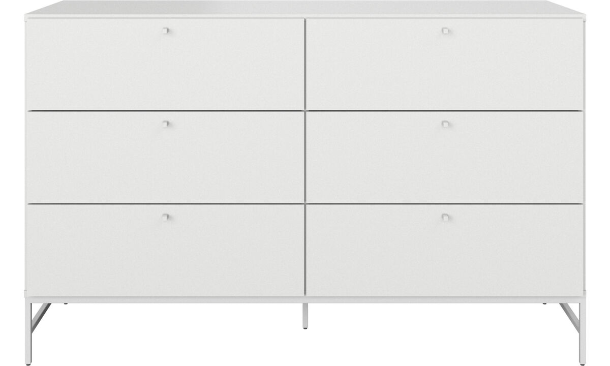 Chests of drawers - Bordeaux double dresser - White - Lacquered