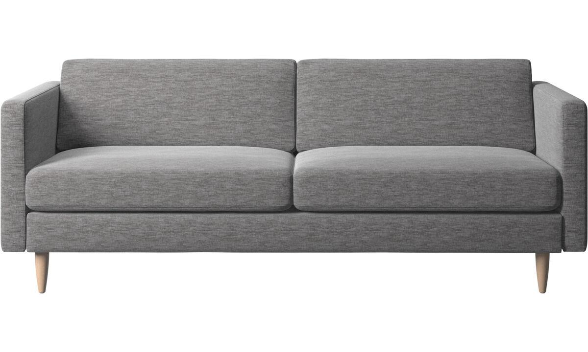 2.5 seater sofas - Osaka divano, seduta liscia - Grigio - Tessuto