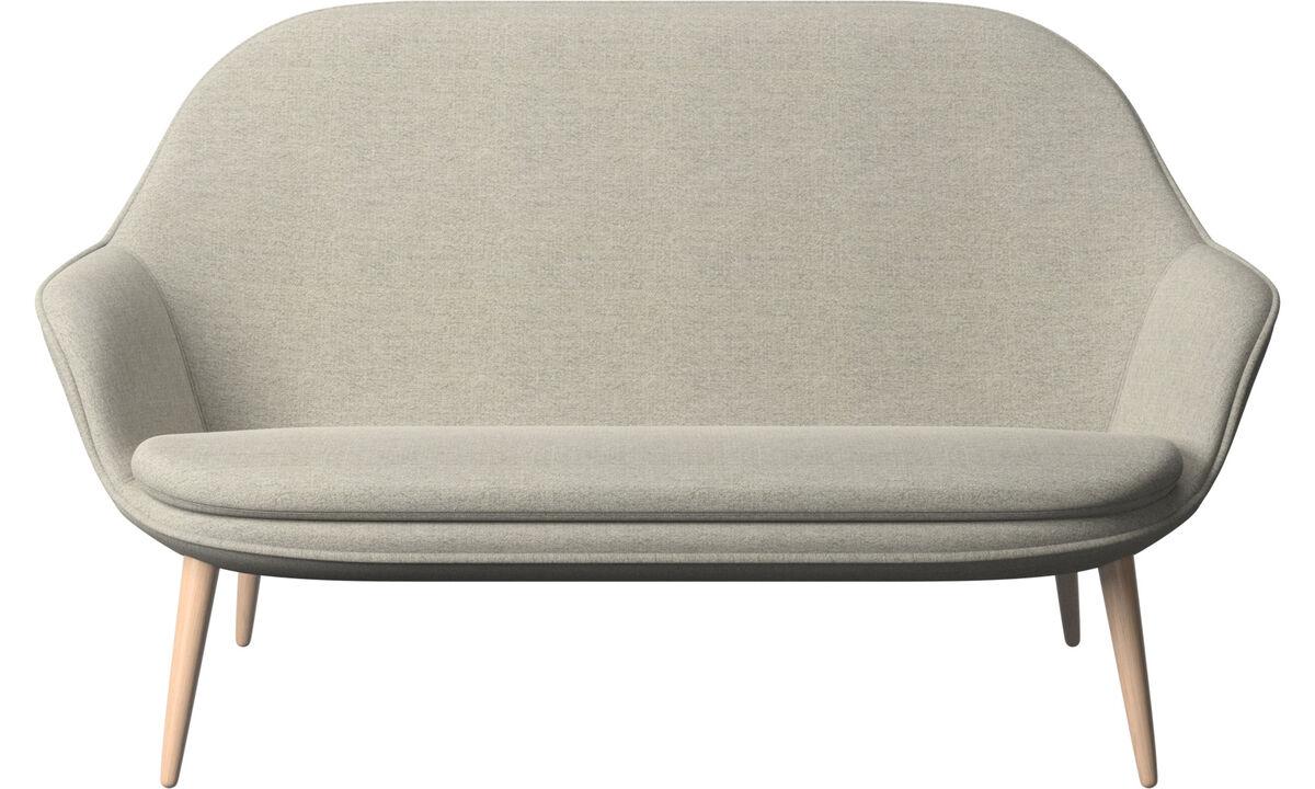 Sofás de 2 plazas - sofá Adelaide - En beige - Tela