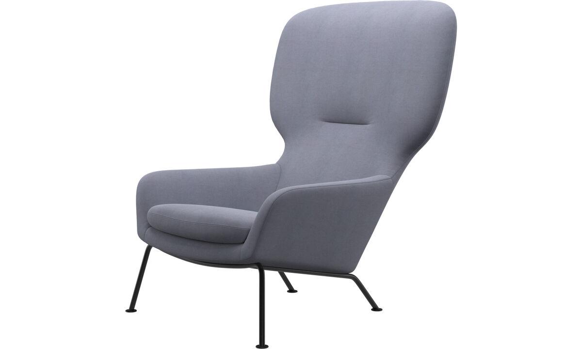 Fauteuils - fauteuil Dublin - Bleu - Tissu