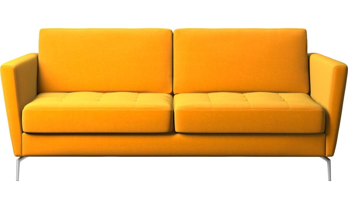 Sofás cama - sofá-cama Osaka, assento tufado - Laranja - Tecido