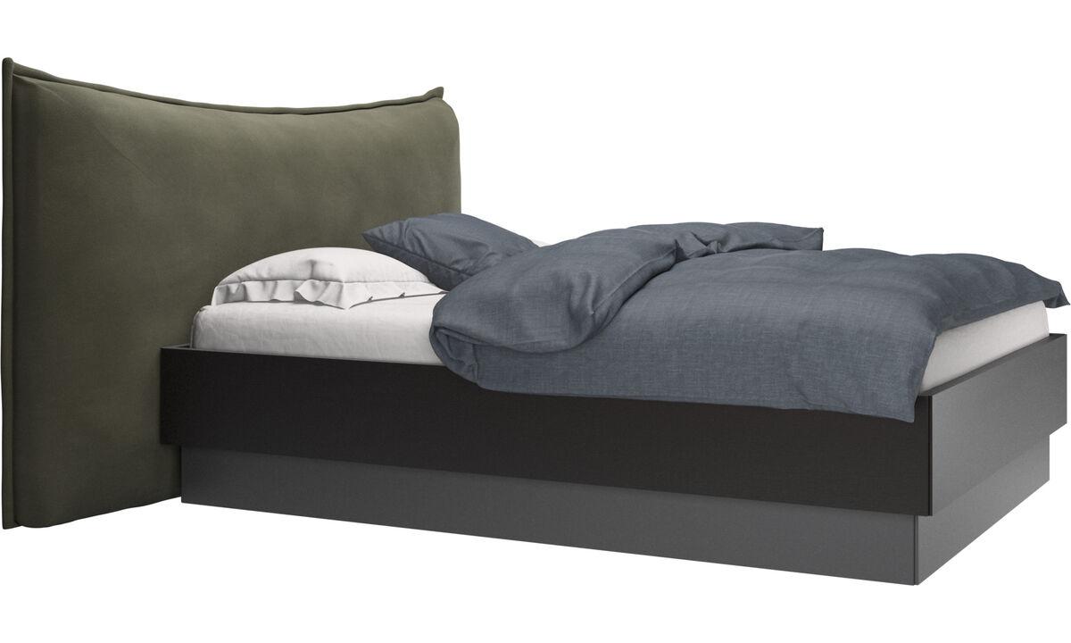 Nuevas camas - Cama con canapé, estructura elevable y tablado, no incluye colchón Gent - En verde - Piel