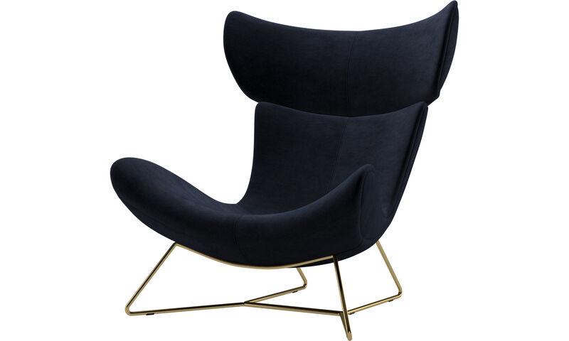 Fotele - fotel Imola - Niebieski - Tkanina