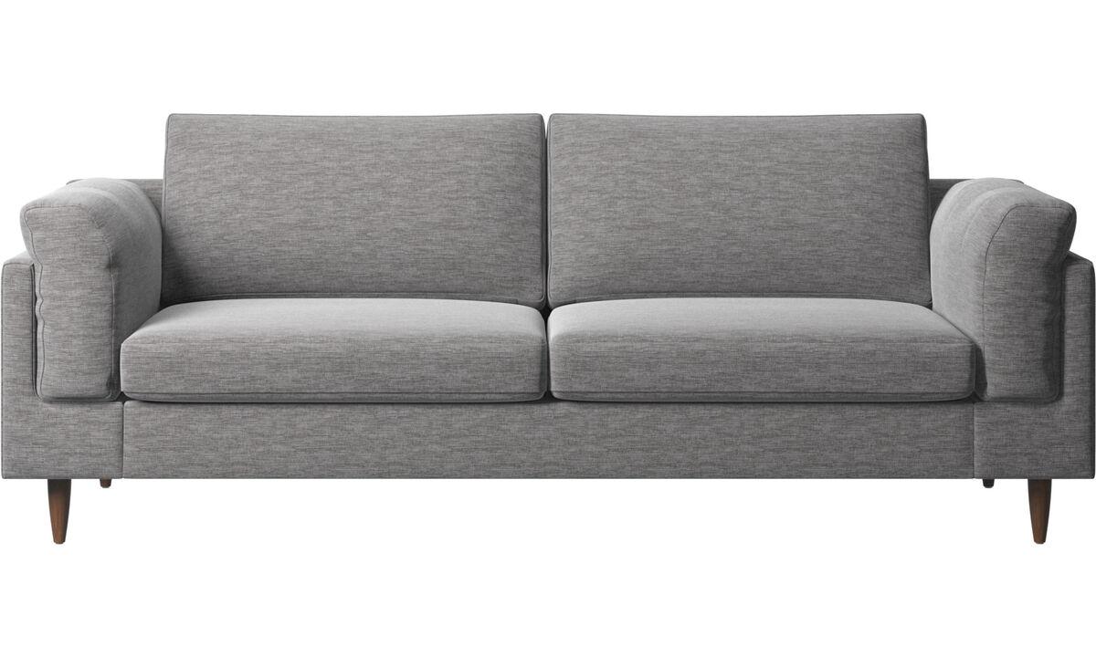 Sofás de 2 plazas y media - sofá Indivi - En gris - Tela