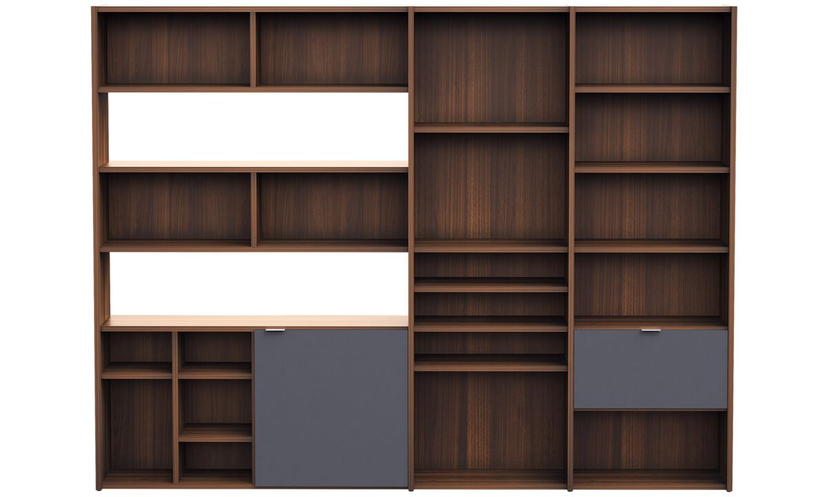 Wall systems - Copenhagen wall system - Brown - Walnut