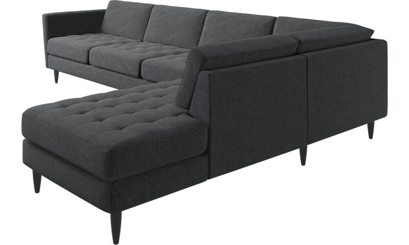 Excellent Corner Sofas Osaka Corner Sofa With Lounging Unit Tufted Ncnpc Chair Design For Home Ncnpcorg