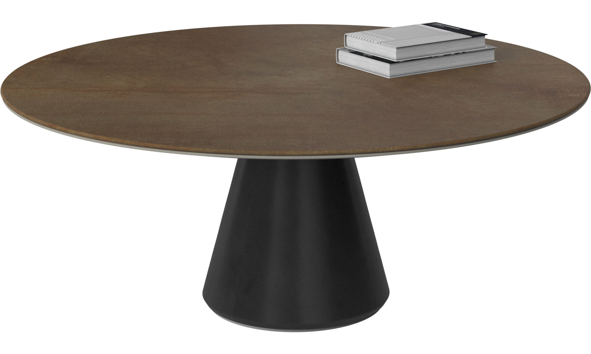 Coffee Tables   Madrid Coffee Table   Round   Brown   Ceramic