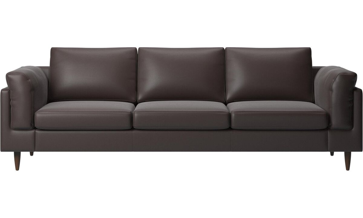 3 seater sofas - Indivi 2 sofa - Brown - Leather