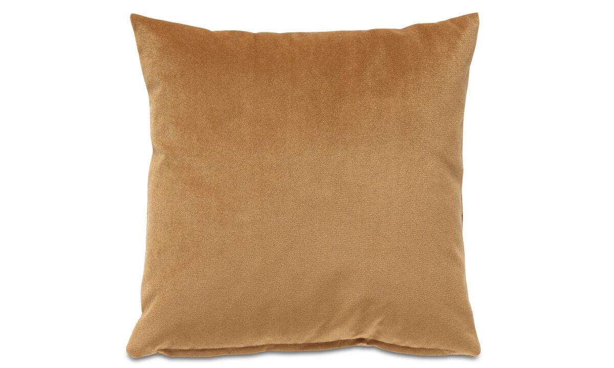 Cushions - Velvet plain cushion - Brown - Fabric