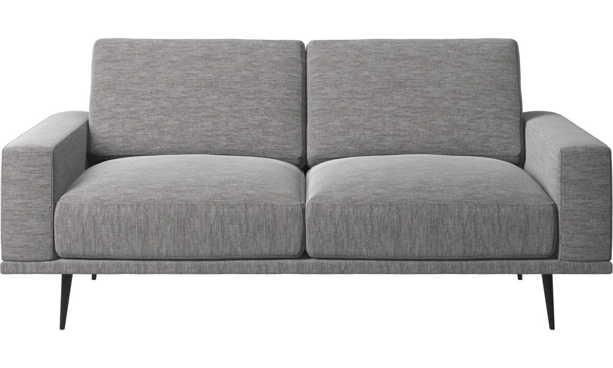 2 seater sofas - Carlton sofa - Grey - Fabric