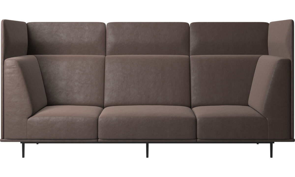 3 seater sofas - Toulouse sofa - Brown - Leather