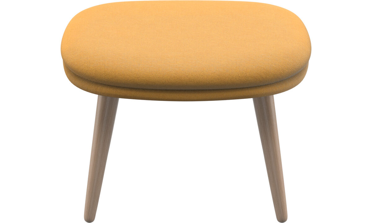 Footstools - Adelaide footstool - Yellow - Fabric