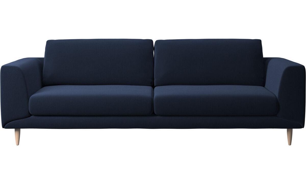 3 seater sofas - Fargo sofa - Blue - Fabric