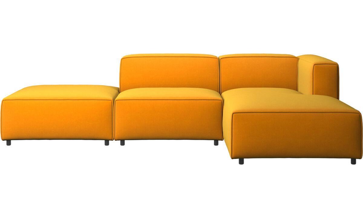 Sofás modulares - sofá Carmo con módulo chaise-longue - Naranja - Tela