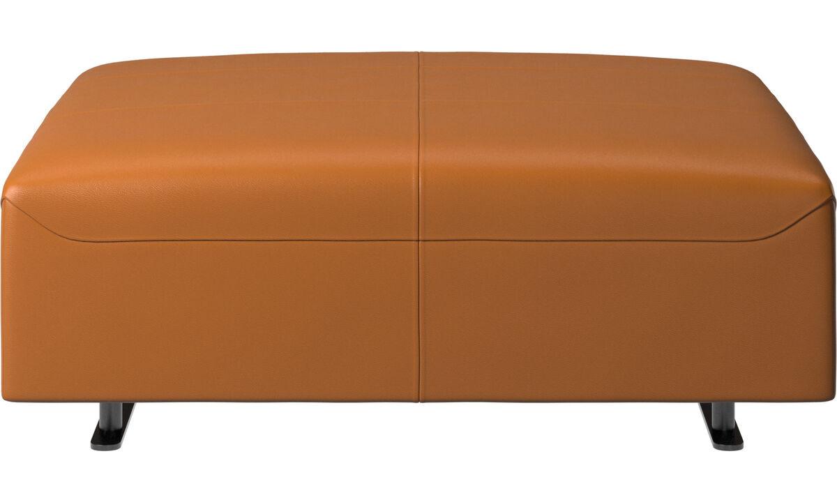 Pufs - puf Hampton - En marrón - Piel