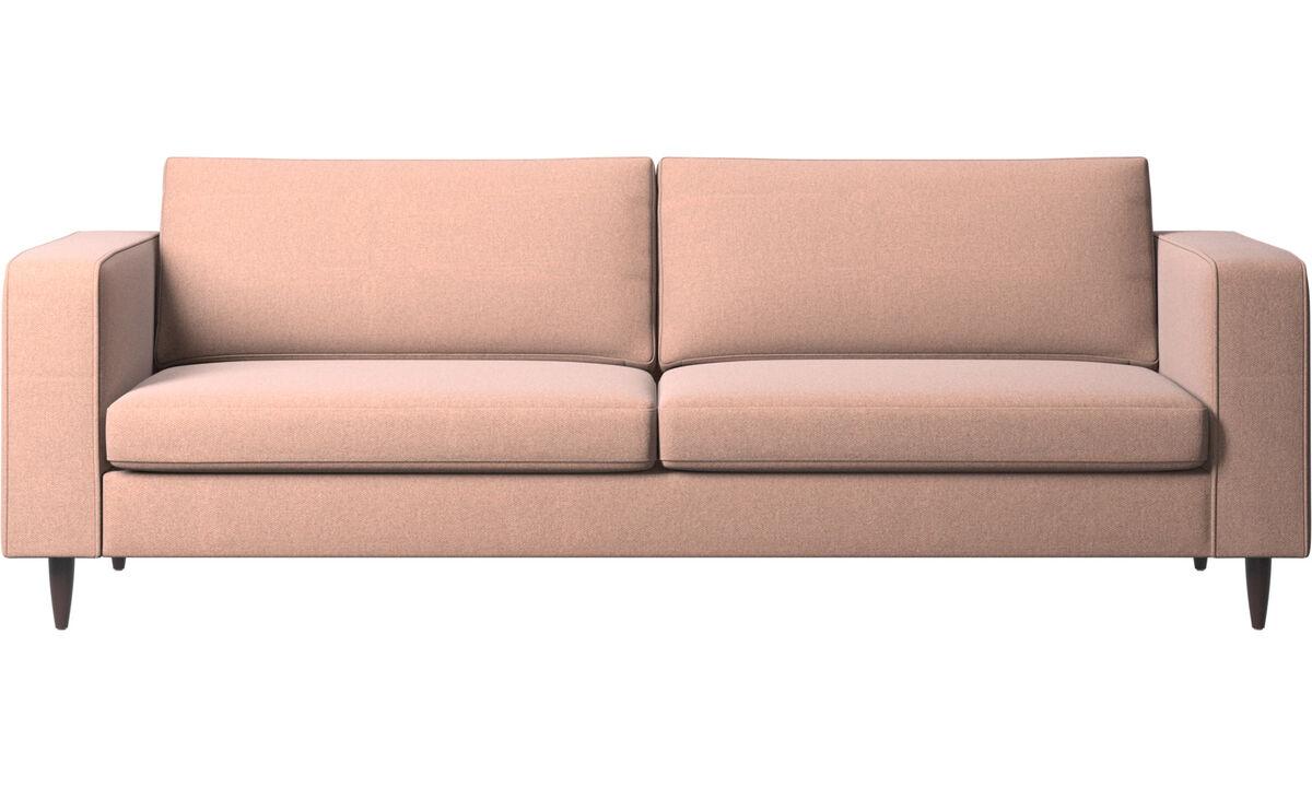 3 seater sofas - Indivi 2 sofa - Red - Fabric