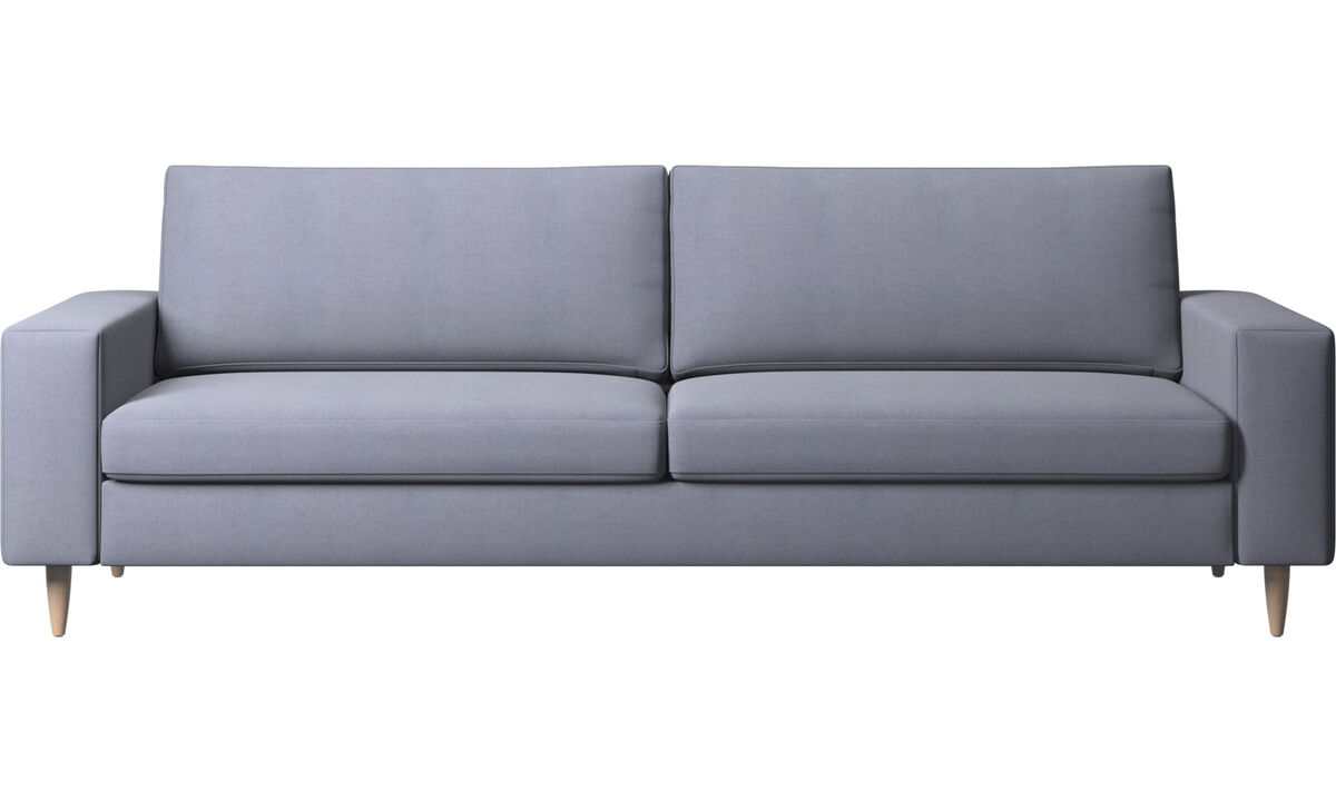 Sofás de 3 plazas - sofá Indivi - En azul - Tela