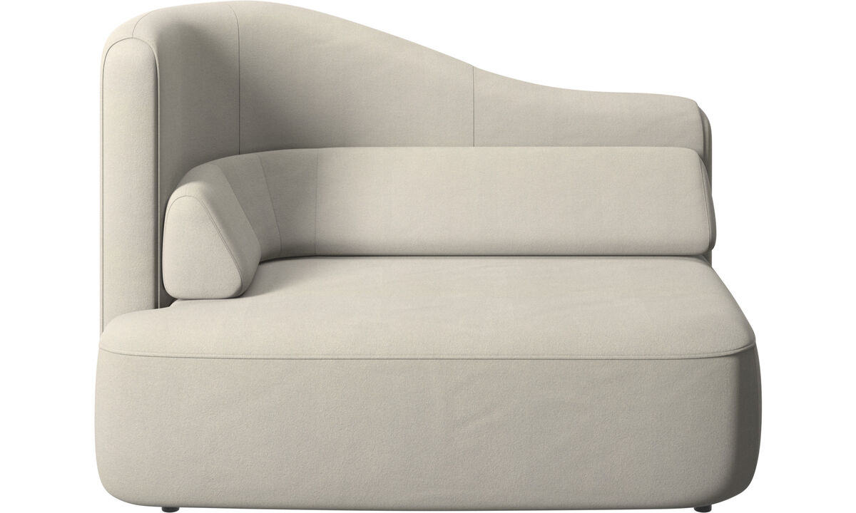 Modular sofas - Ottawa 1,5 seater left arm - White - Fabric