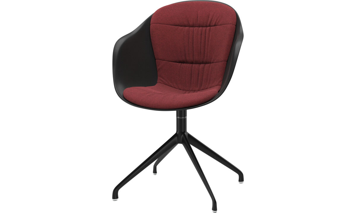 Krzesła do jadalni - krzesło Adelaide na obrotowej nodze - Czerwone - Tkanina