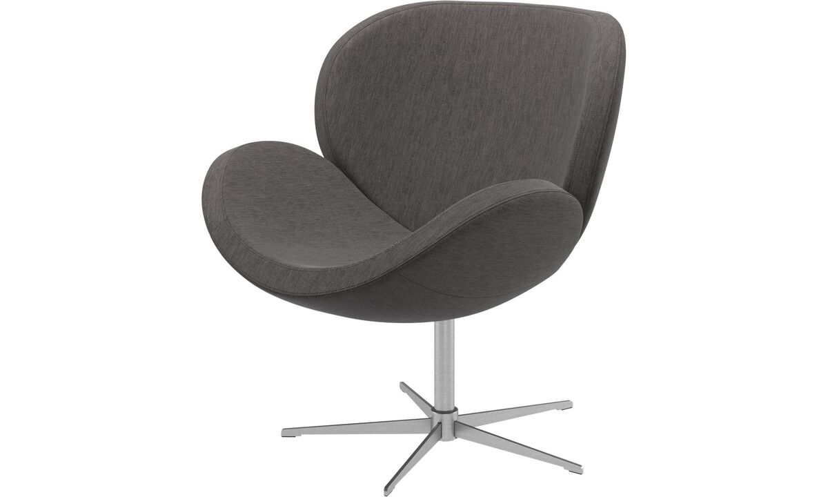 Armchairs - Schelly chair with swivel function - Grey - Fabric
