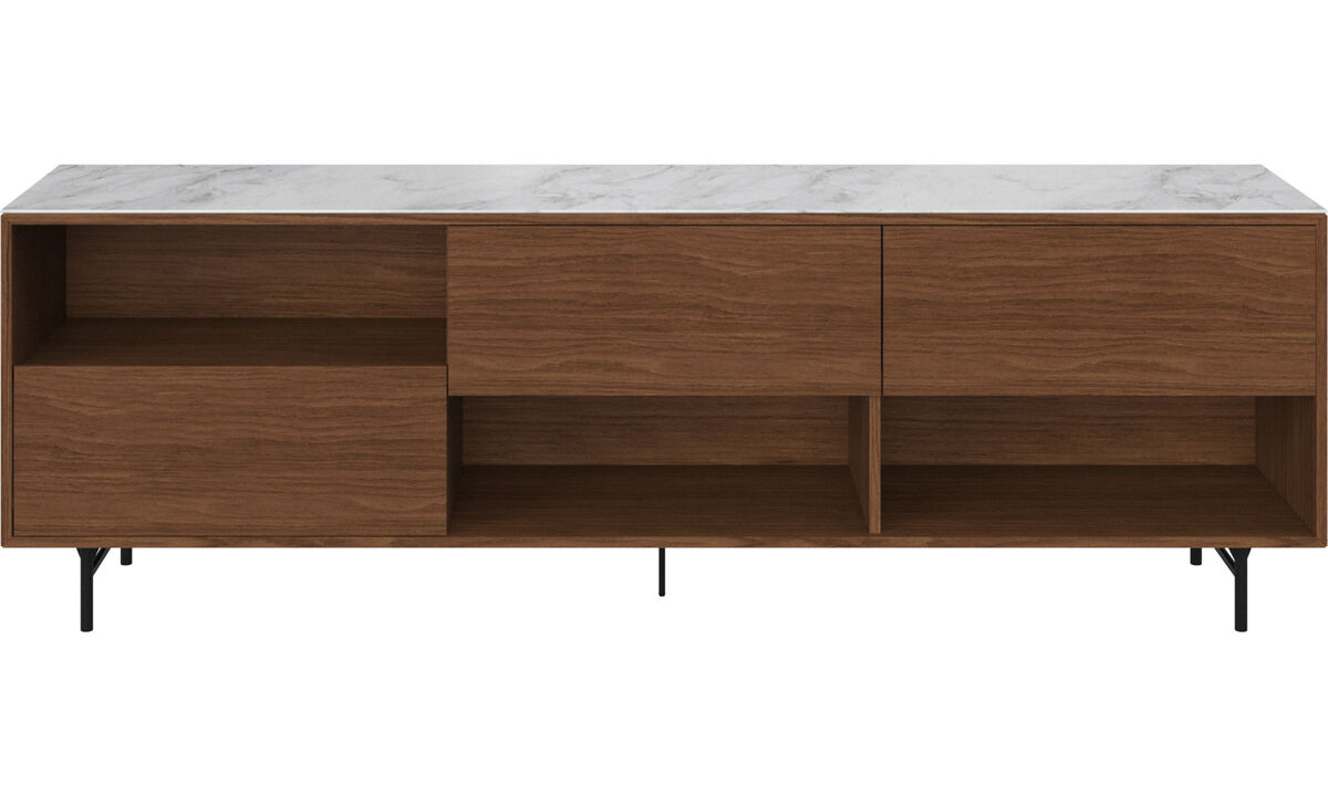 Sideboards - Manhattan sideboard with top plate - White - Walnut