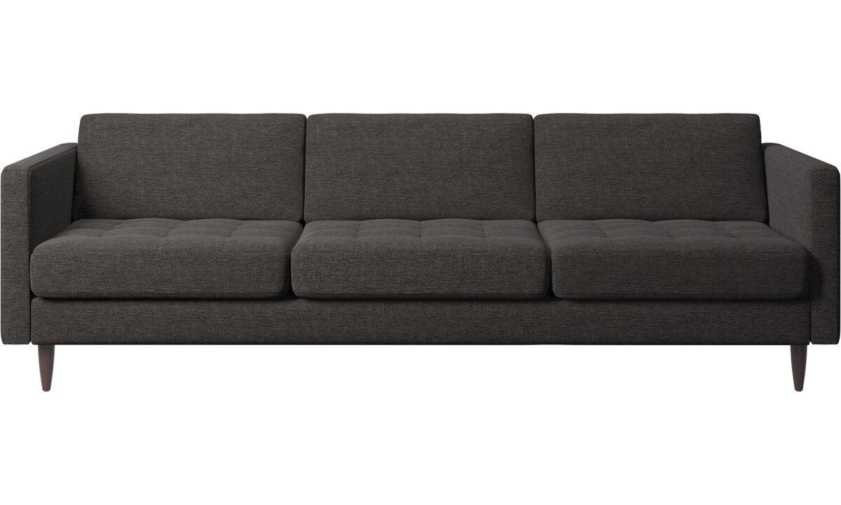 Háromszemélyes kanapék - Osaka kanapé, tűzött felületű ülőpárna - Fekete - Huzat