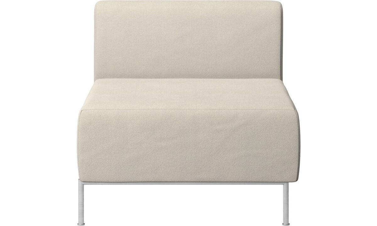 Modular sofas - Miami seat with back - White - Fabric