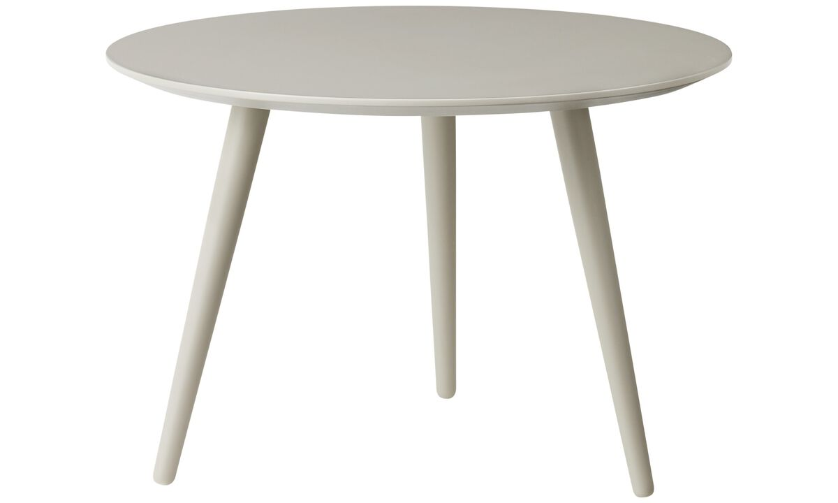 New designs - Bornholm coffee table - round - Grey - Lacquered