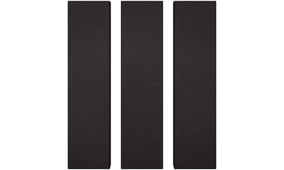 Sistemas de pared - gabinetes de pared Lugano - En negro - Roble