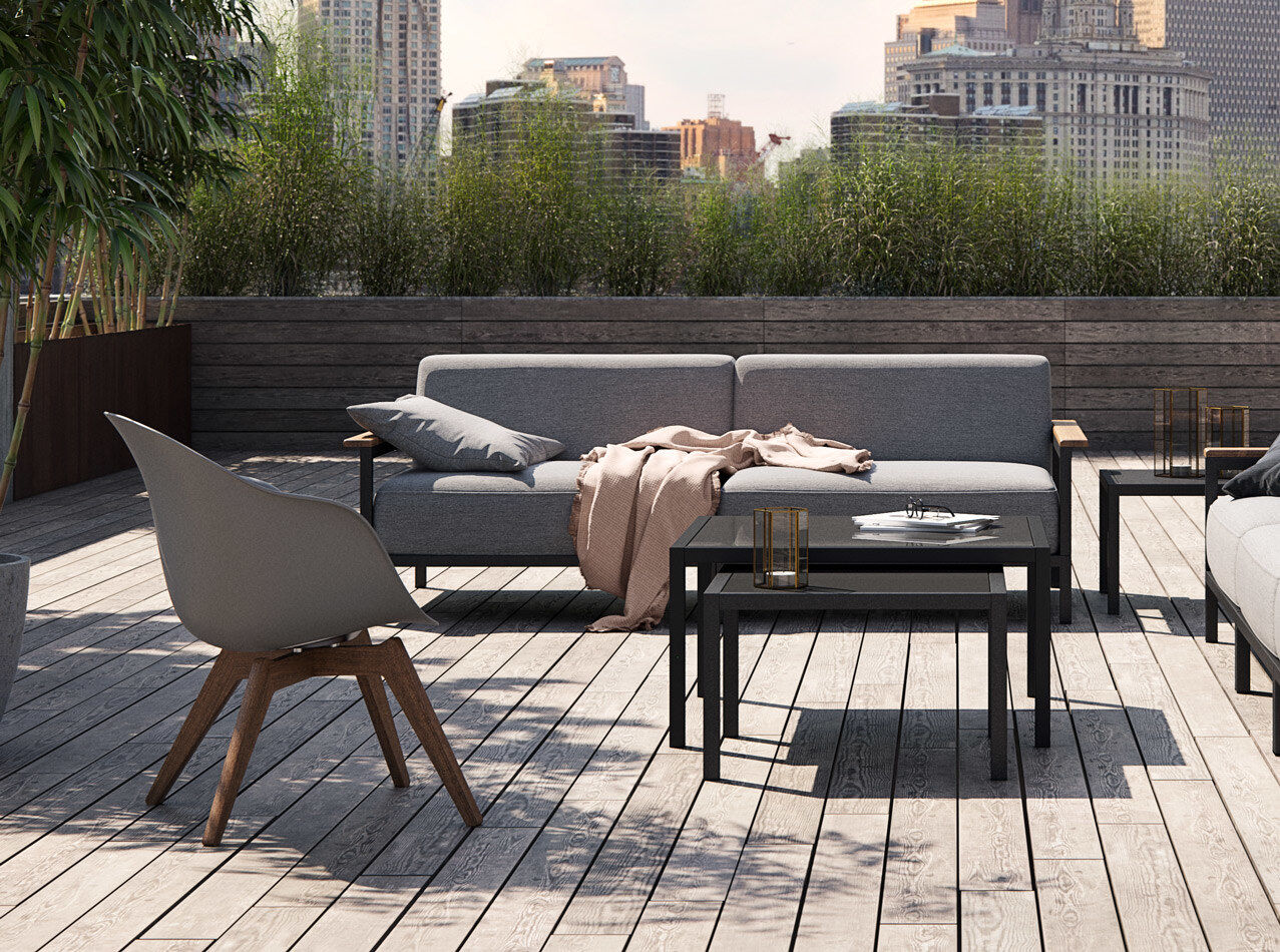 Mobiliário para lounge de área externa - Cadeira Adelaide Lounge (para utilização no interior e exterior)