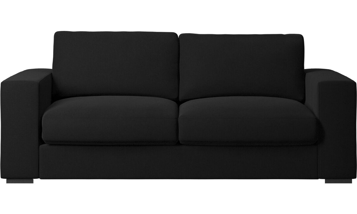 2.5 seater sofas - Cenova sofa - Black - Fabric