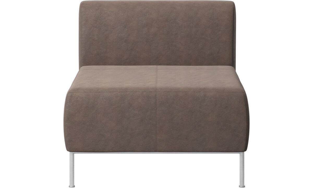Armchairs - Seduta Miami con schienale - Marrone - Pelle