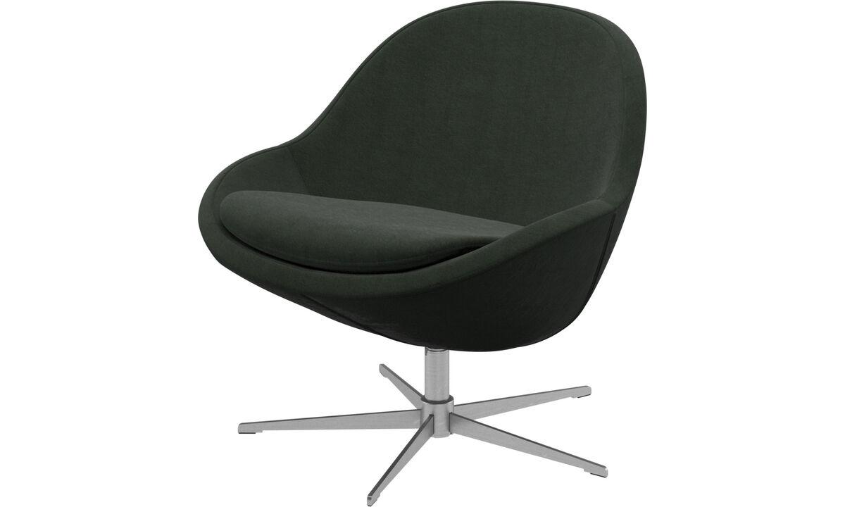Armchairs - Veneto chair with swivel function - Green - Fabric
