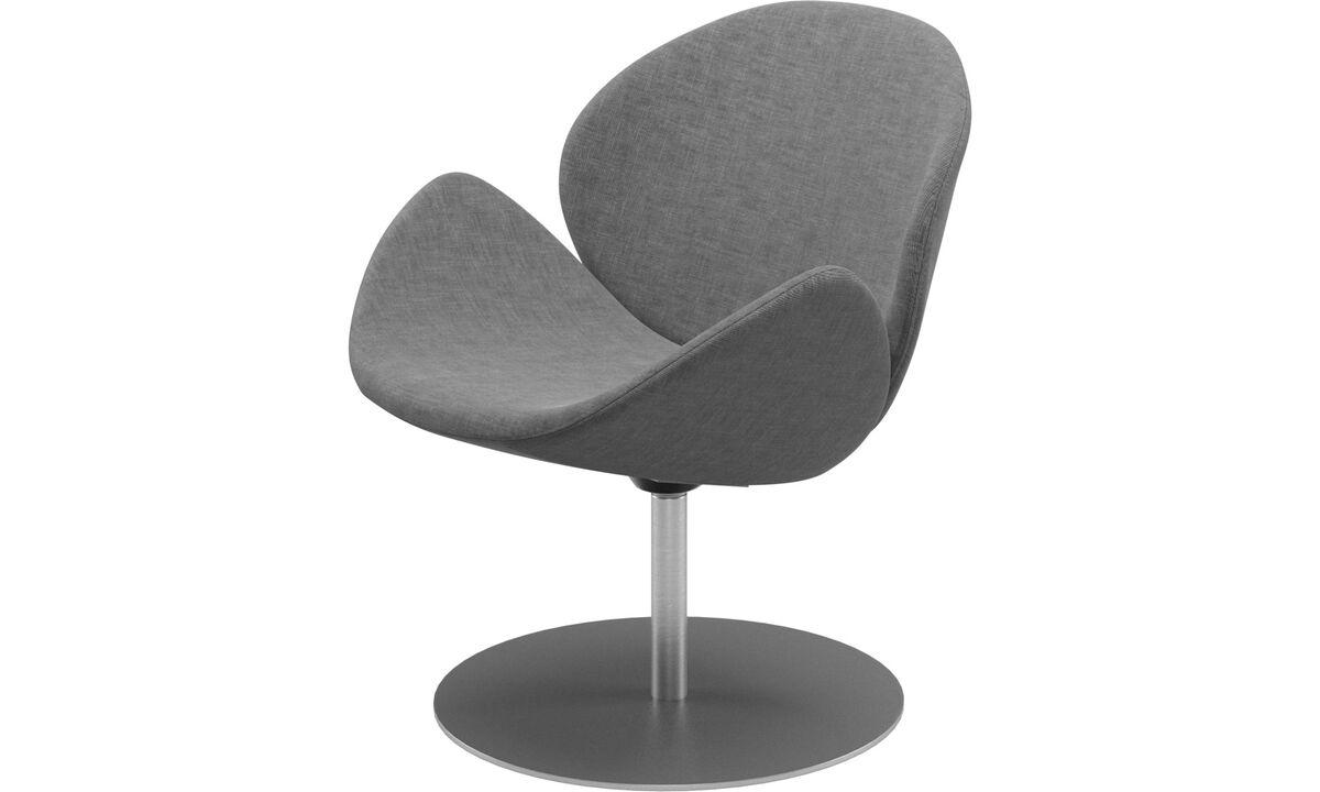 Fauteuils - fauteuil Ogi avec fonction pivotante - Gris - Tissu