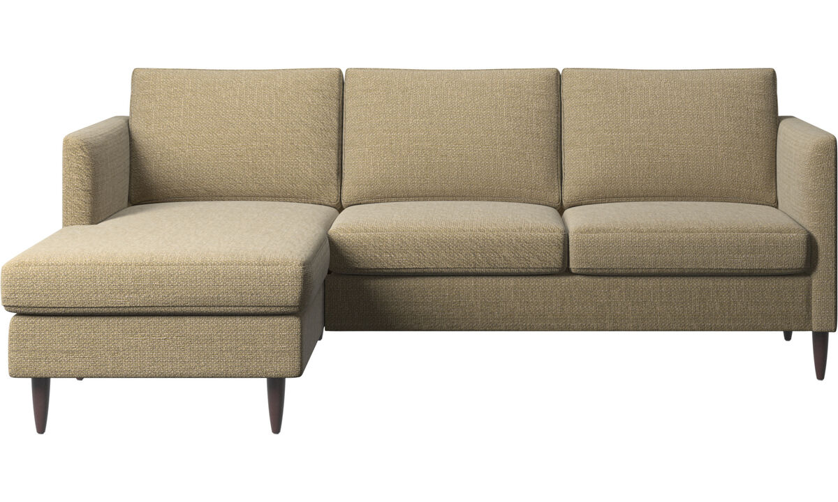 Chaise lounge sofas - Indivi sofa with resting unit - Yellow - Fabric