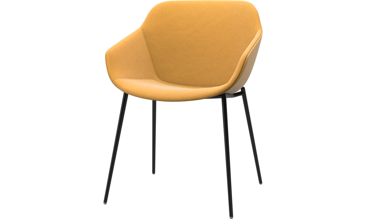 Dining chairs - Vienna chair - Yellow - Fabric