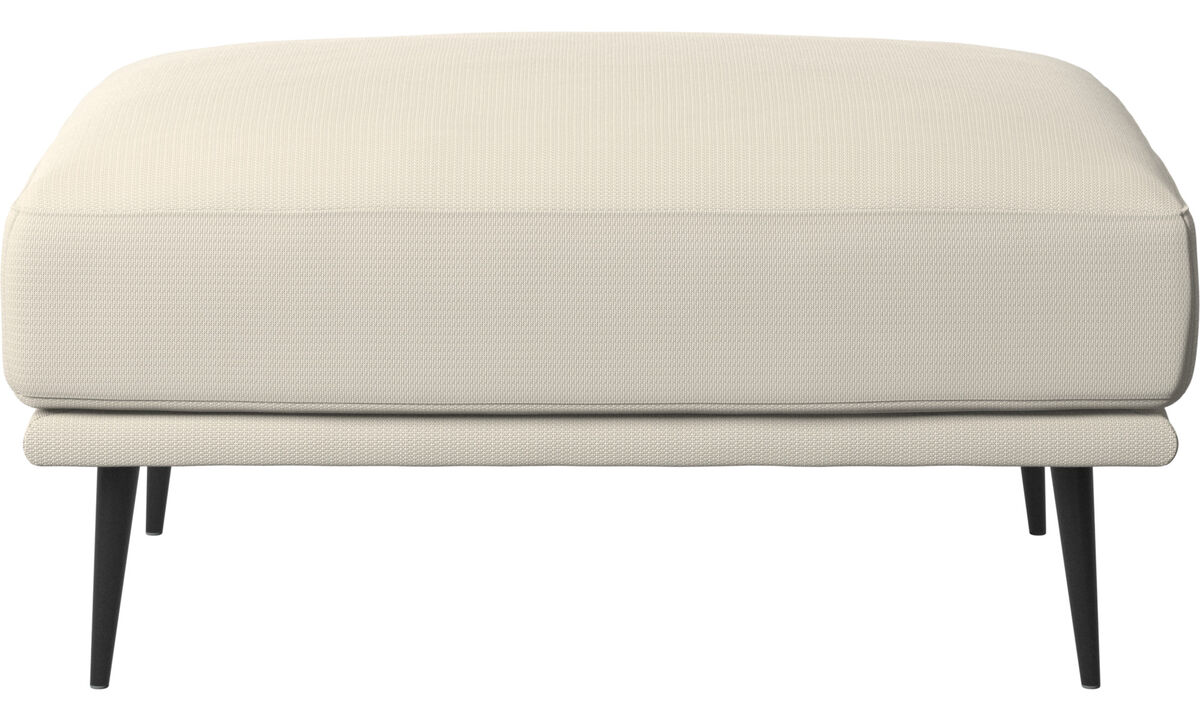 Footstools - Carlton ottoman - White - Fabric