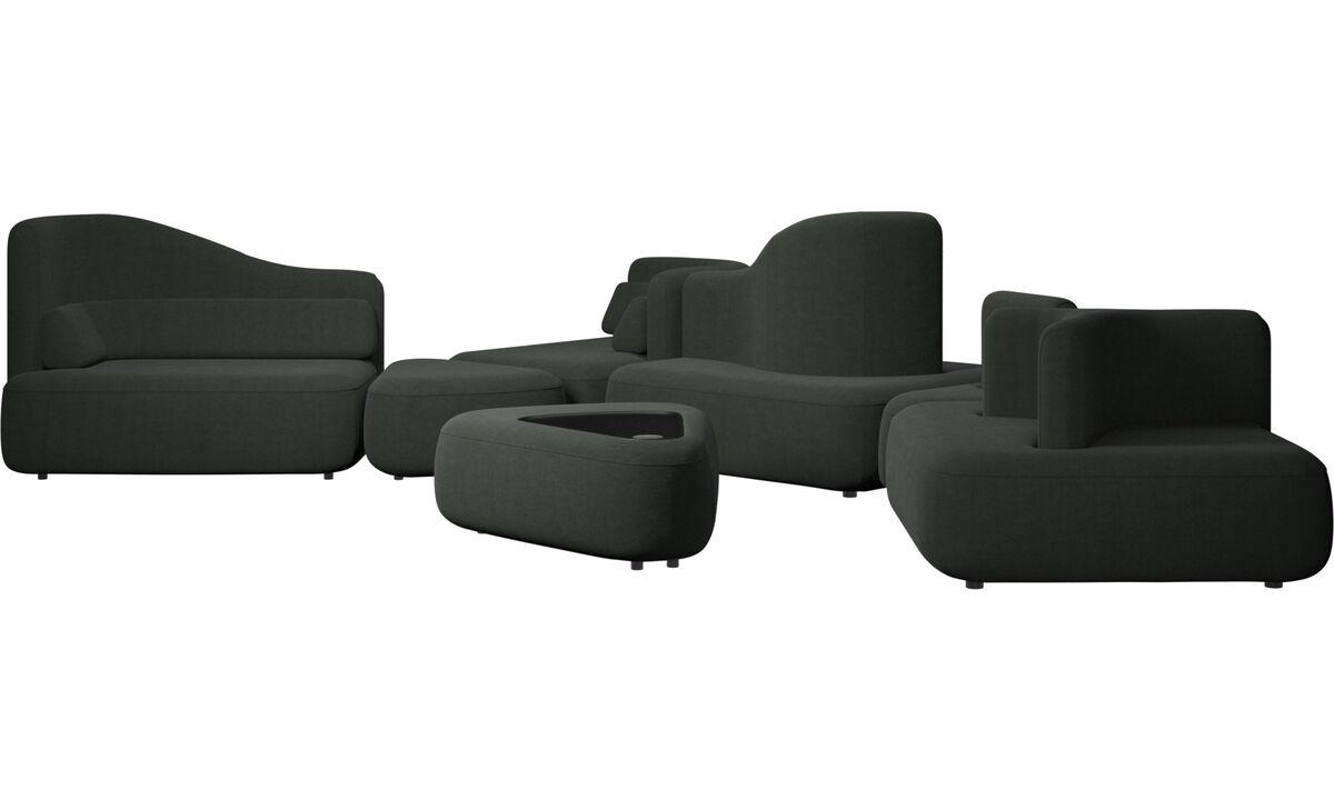 Sofás modulares - sofá Ottawa - En verde - Tela
