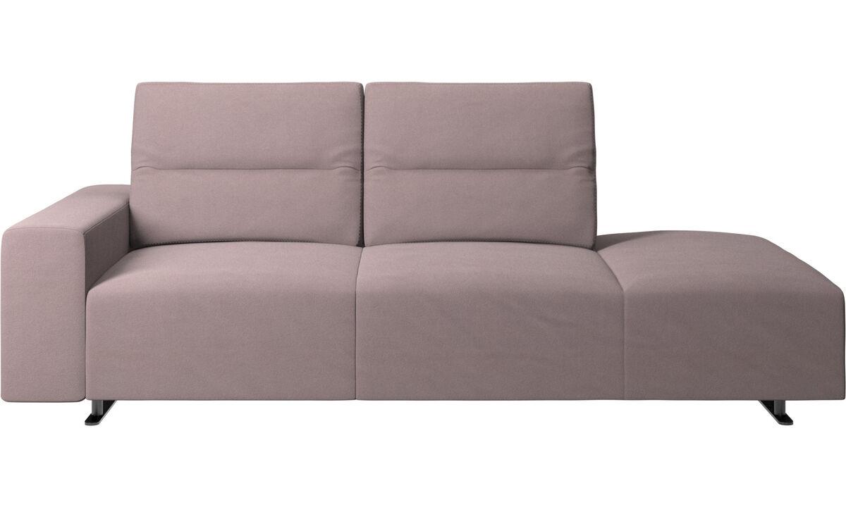 2-sitzer Sofas - Hampton Sofa mit verstellbarer Rückenlehne - Lila - Stoff