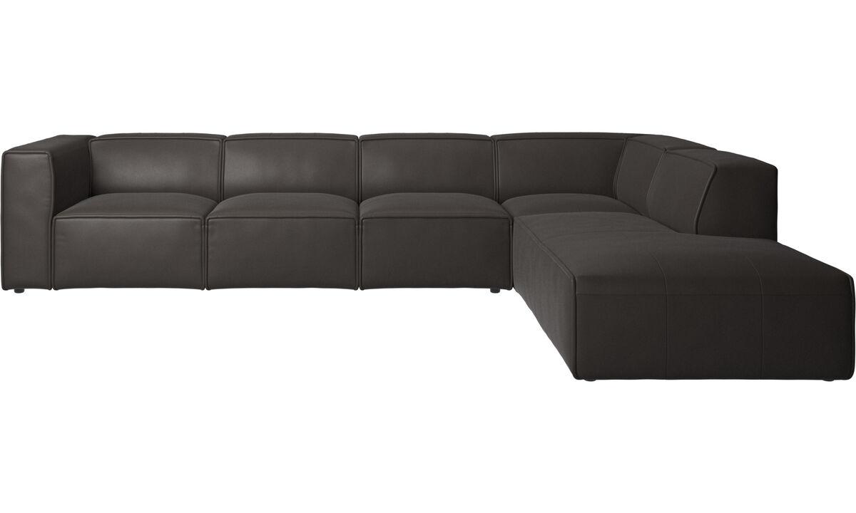 Corner sofas - Carmo corner sofa - Brown - Leather